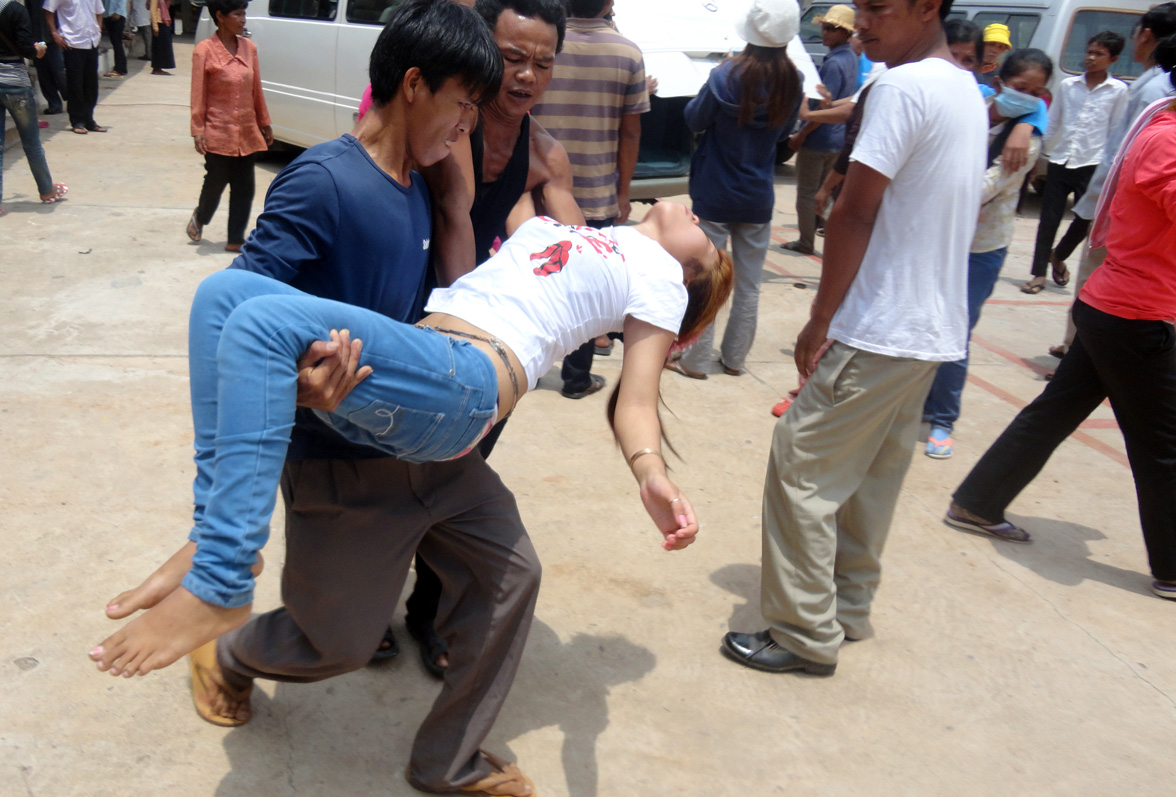 Cambodian fainting victim
