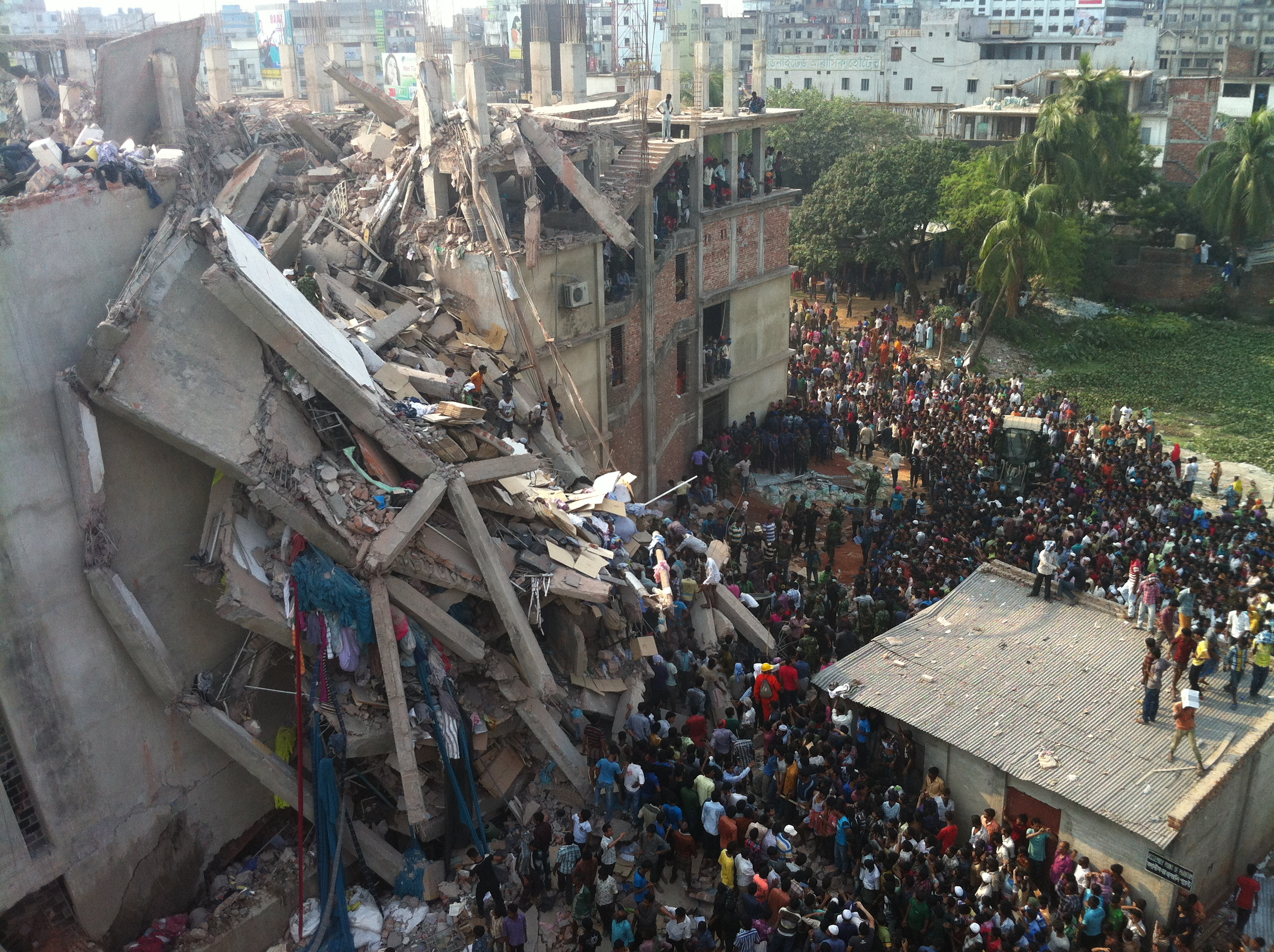 The aftermath of the Rana Plaza factory collapse, photo copywrite ILRF (1)