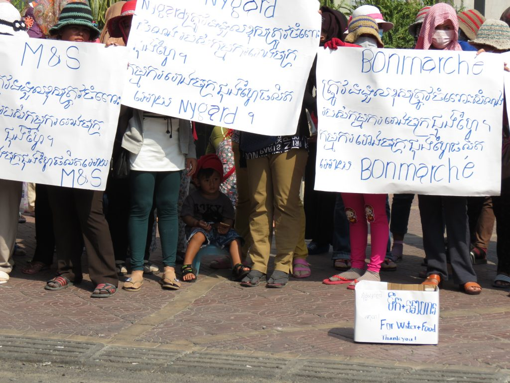 Workers protest in Cambodia after being left without pay