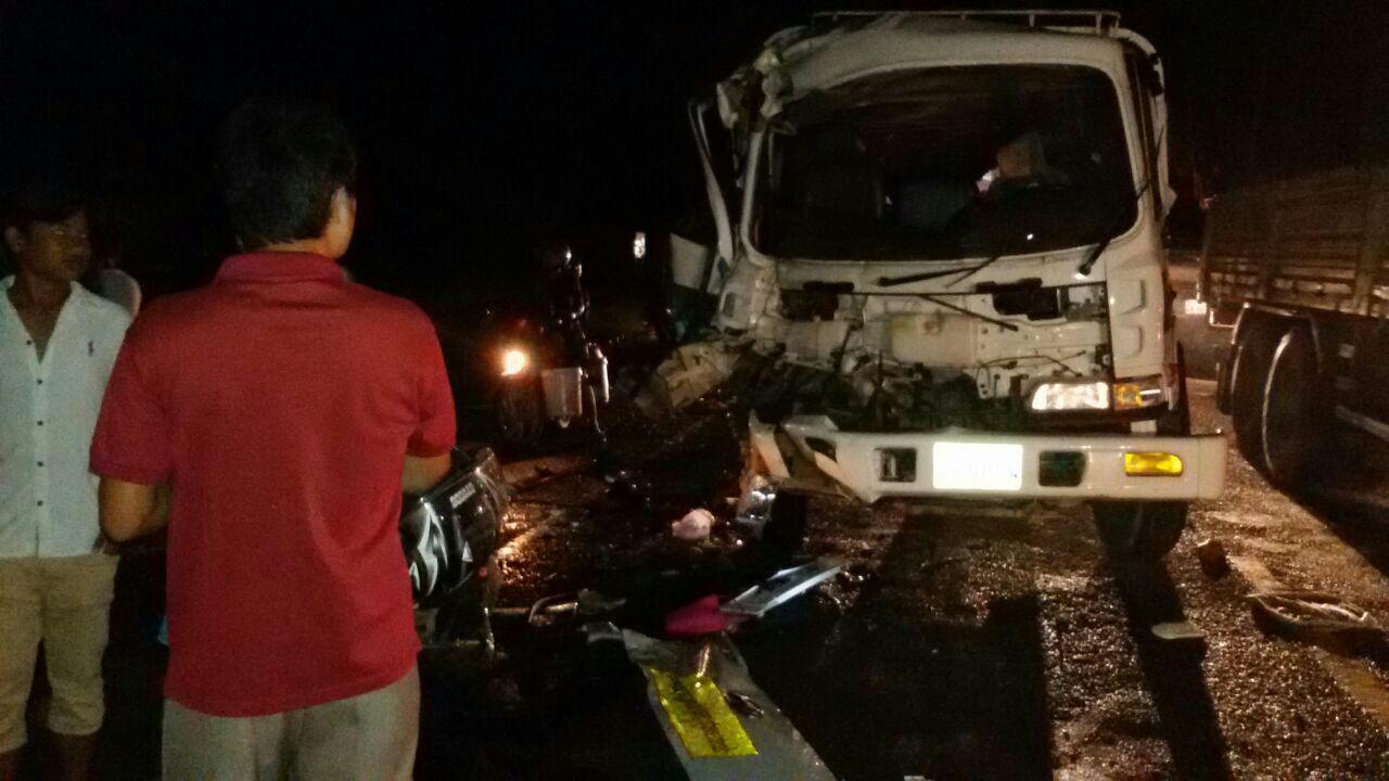 smashed van