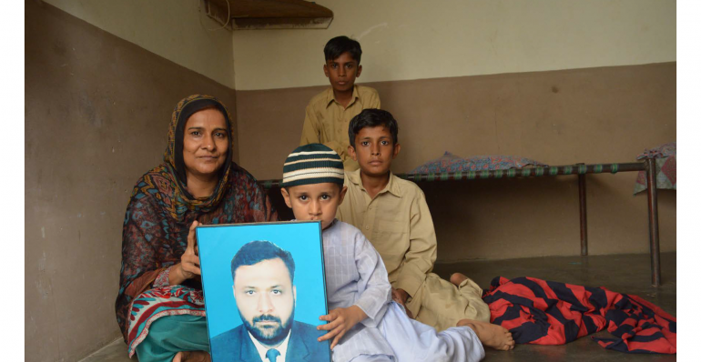Shahida Parveen and her three sons lost their husband and father in the Ali Enterprises fire