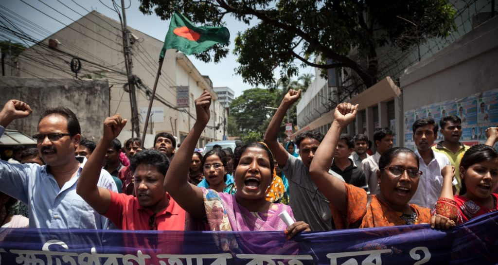 Bangladesh worker protest